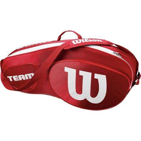 Wilson Team III 3 Pack Racket Bag Red White