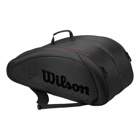 Wilson Federer Team 12 Pack Racketbag Black Red