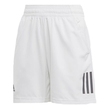 Adidas Boy's Club 3 Stripe Shorts White