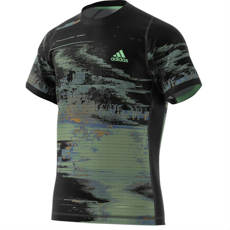 Adidas Mens New York Printed Tee Black Green