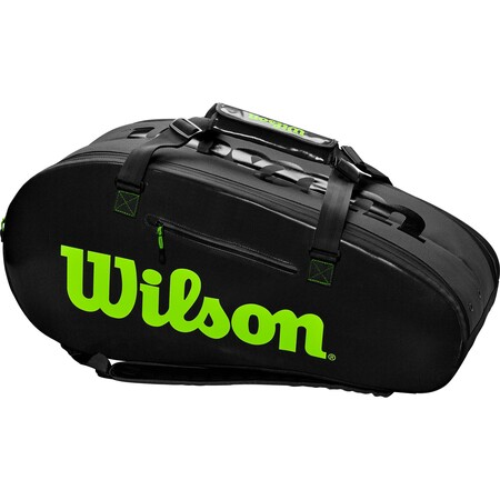 Wilson Super Tour 2 Comp Large Racket Bag Charcoal Green