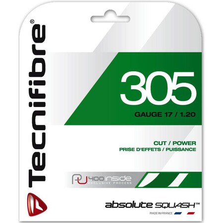 Tecnifibre 305 1.2mm Squash Restring Upgrade