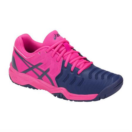 huge discount 73da2 abe96 ... Asics Kids Gel Resolution 7 GS Tennis Shoes Pink Glo Blue Print ...