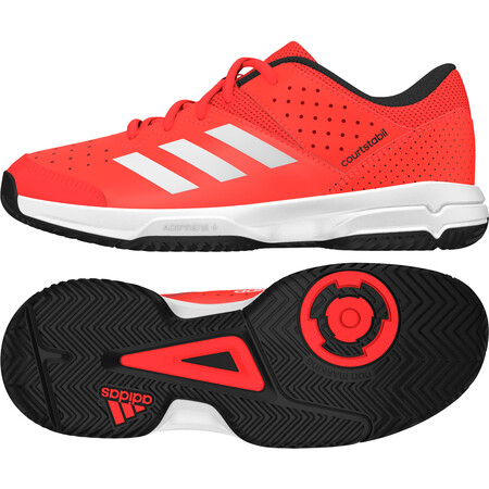 Adidas Court Stabil Junior Shoes - Red White Black