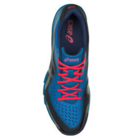 Asics Gel Blade 6 Court Shoes (Blue Print Silver) | Direct Badminton
