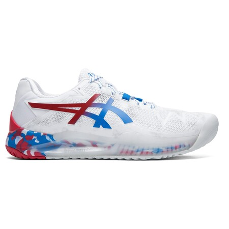 Asics Gel Resolution 8 L.E. Tokyo Men's Tennis Shoes White Blue