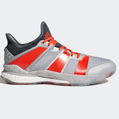 Adidas Stabil X Men's Indoor Shoes Silver Red