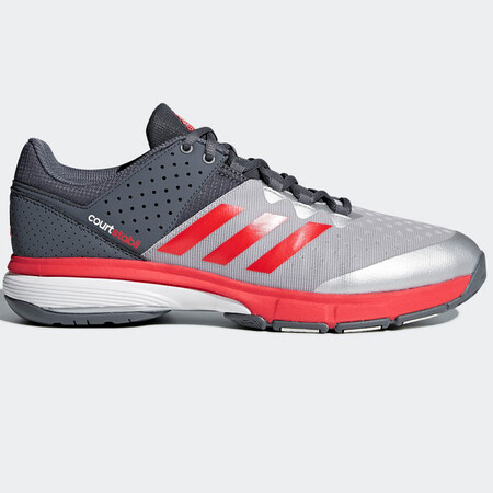 Adidas Court Stabil Indoor Court Shoes Grey Red