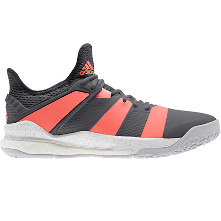Adidas Stabil X Men's Indoor Shoes Grey Coral
