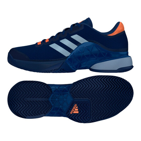 Adidas Mens Barricade 2017 Tennis Shoes Mystery Blue