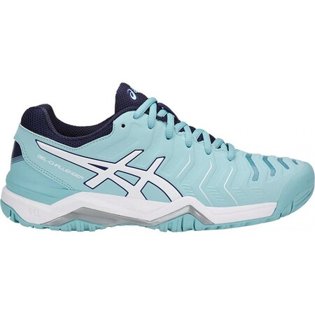 Asics Gel Challenger 11 Womens Tennis Shoes - Porcelain Blue White Indigo Blue 2018