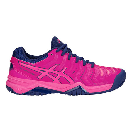 Asics Gel Challenger 11 Womens Tennis Shoes Pink Glow Blue Print