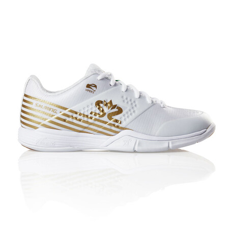 Salming Viper 5 Women's Indoor Shoes White Gold 2019