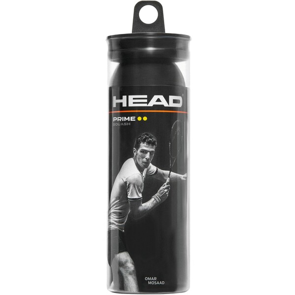 Head Prime Squash Balls Double Yellow Dot - 3 Ball Tube