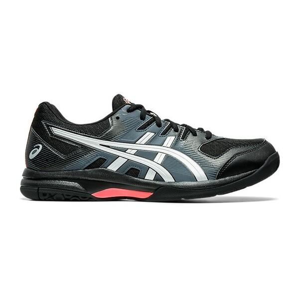 Asics Gel Rocket 9 Men's Shoes Black Sunrise Red