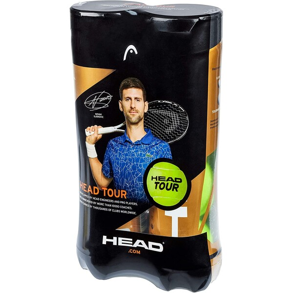 Head Tour Tennis Balls 4 Ball Cans Bi-Pack