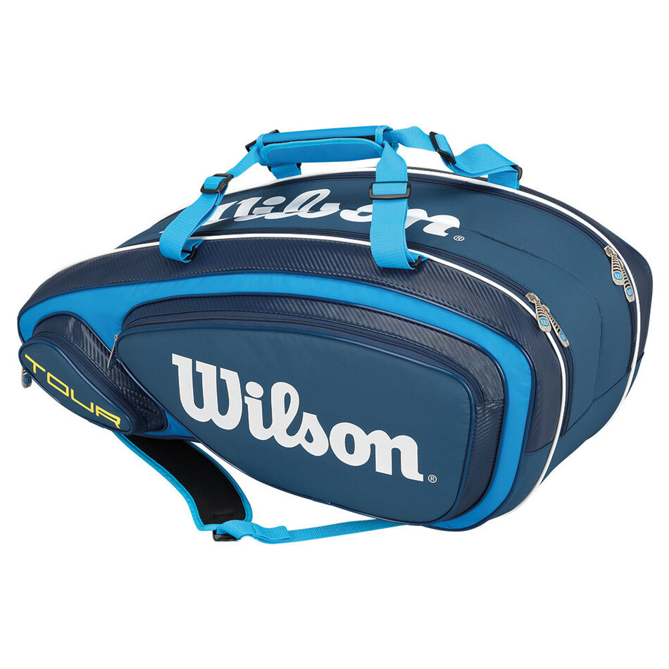 15b0f10fa0 Wilson Tour V 9 Pack Racket Bag Blue