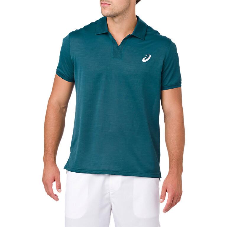 buy online 9a887 de4a8 Asics Men s Classic Polo Shirt - Blue Steel CPAC10712