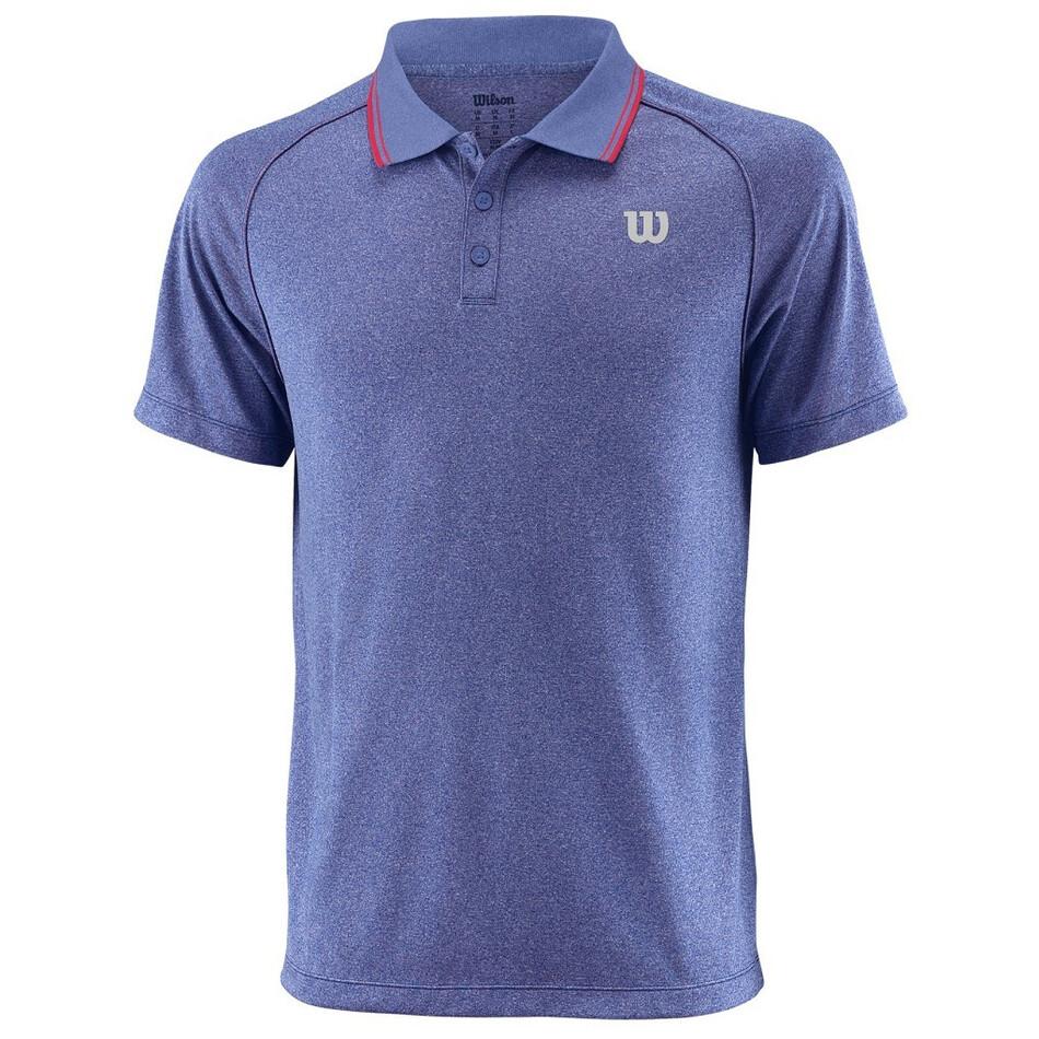 fb227528 Wilson Men's Core Polo Shirt Maz Blue Neon Red   Great Discounts ...