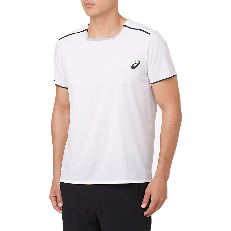 756920ea1 Asics Gel Cool Short Sleeve Men's Top White | Great Discounts ...