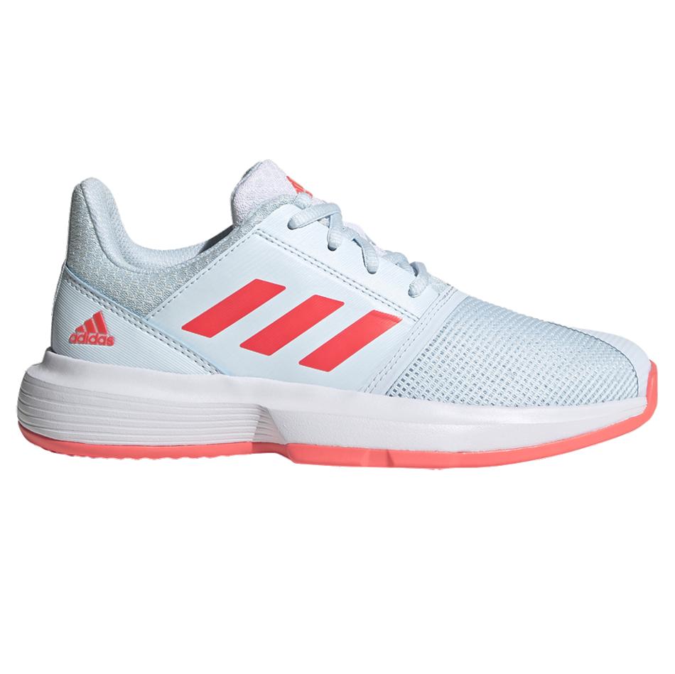 Adidas CourtJam XJ Junior Tennis Shoes Sky Tint Signal Pink