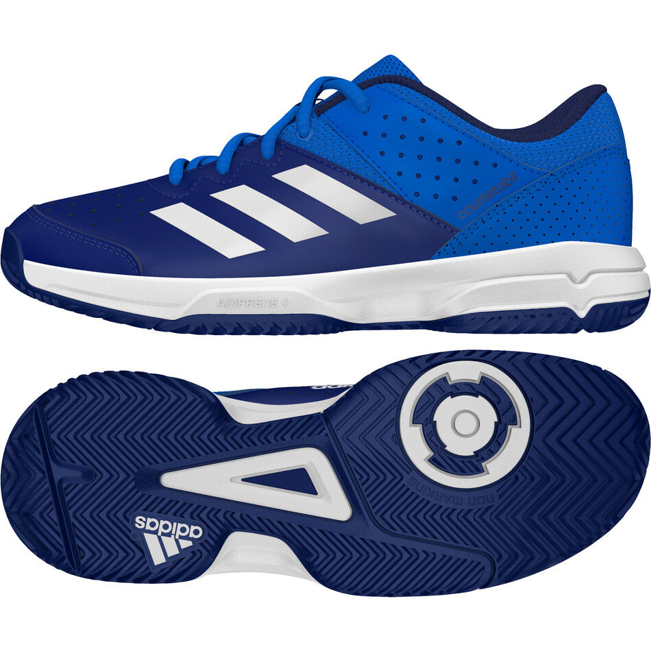 2716396482f Adidas Court Stabil Junior Shoes - Blue White Ink SJAD9897