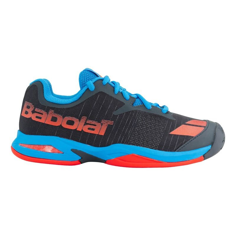 03cd74cf820cbf Babolat Jet All Court Junior Tennis Shoes Grey Red Blue   Great ...