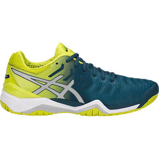 Asics Gel Resolution 7 Men's Tennis Shoes Ink Blue Sulphur Spring 2018 ...