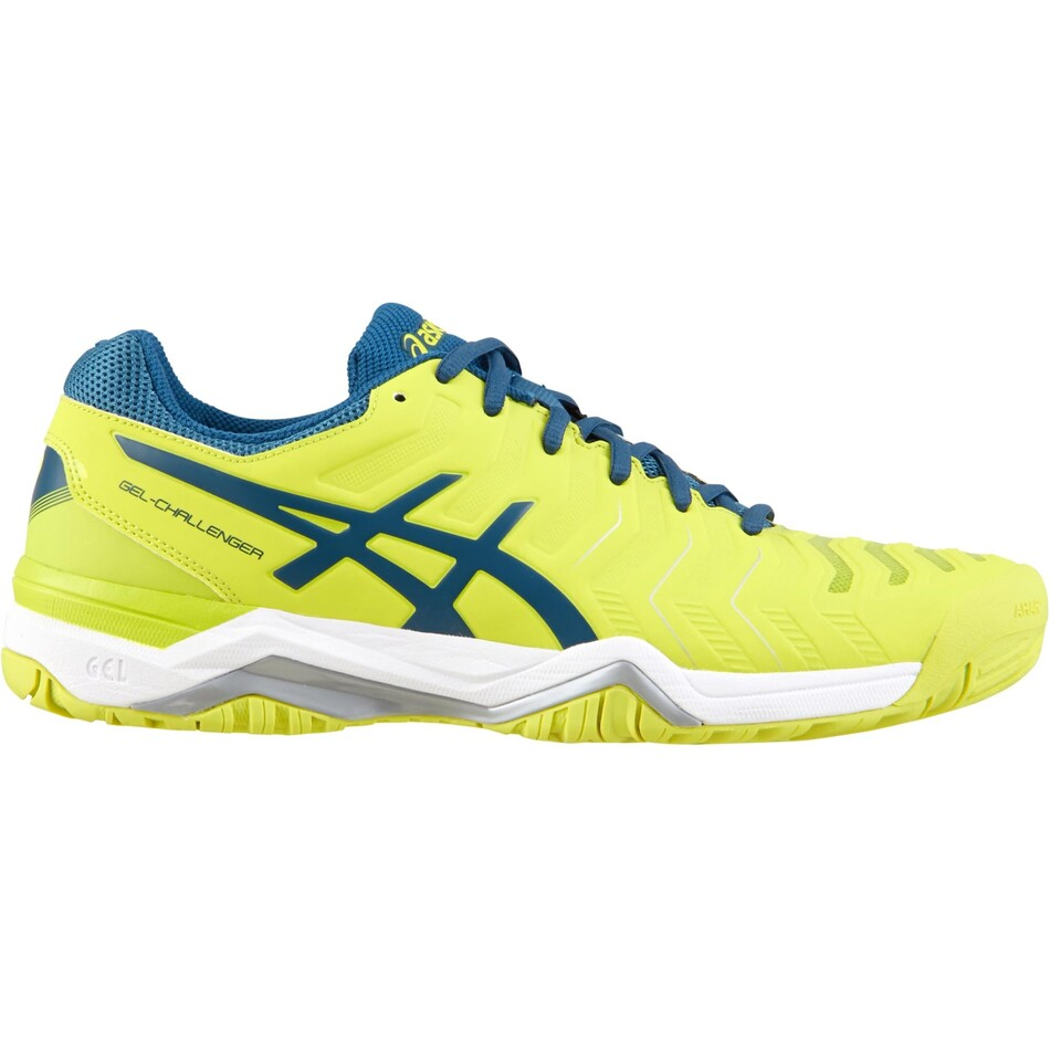 nouveau style 98d72 652ae Asics Gel Challenger 11 Men's Tennis Shoes Sulphur Spring Ink Blue Silver  2018