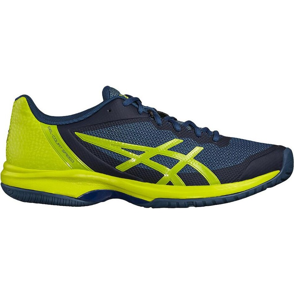 4ff1ade446c2 Asics Gel Court Speed Mens Tennis Shoe Ink Blue Suplhur 2018