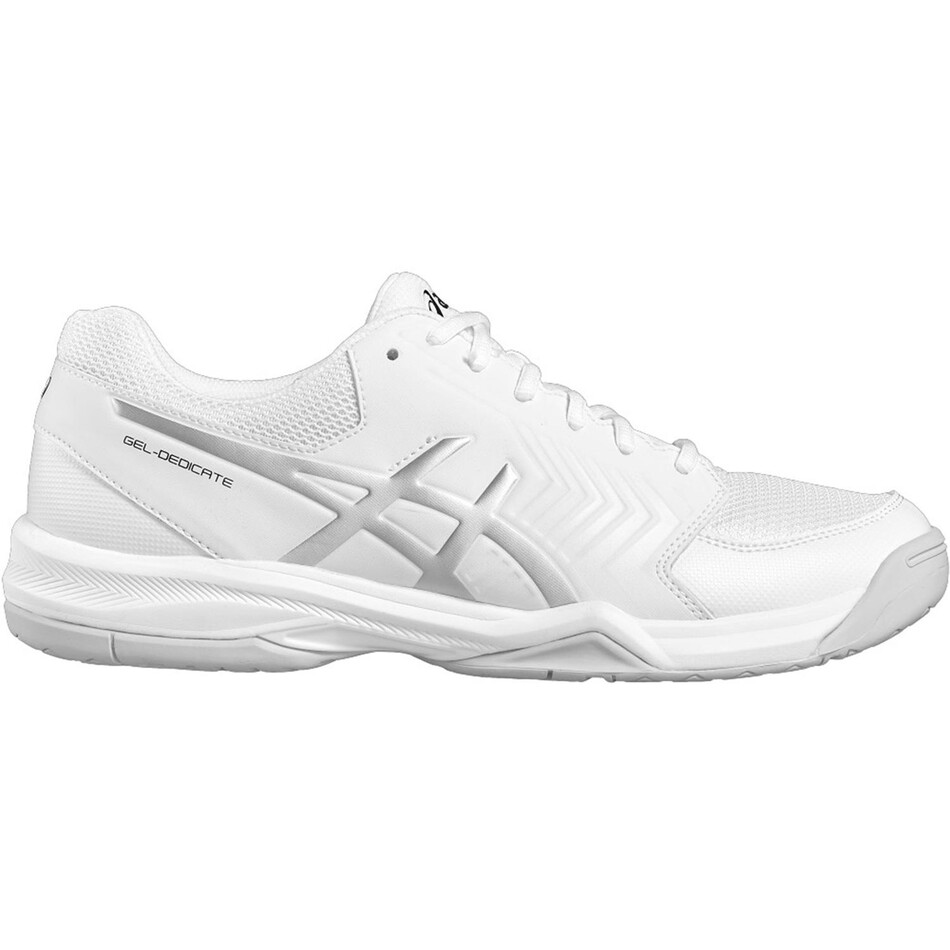 d393d8ad2a82 Asics Gel Dedicate 5 Men s Tennis Shoes White Silver SMAC11108