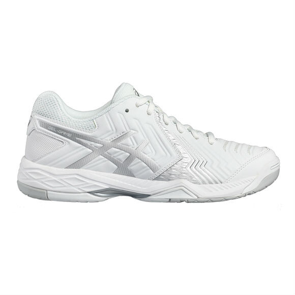 new york 69dcf 19f5c Asics Gel Game 6 Men s Tennis Shoes White Silver SMAC12373