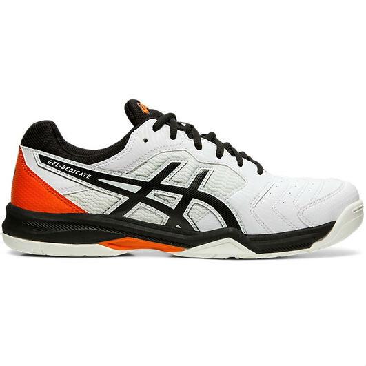 best sneakers c2c14 d95ec Asics Gel Dedicate 6 Men's Tennis Shoes White Black