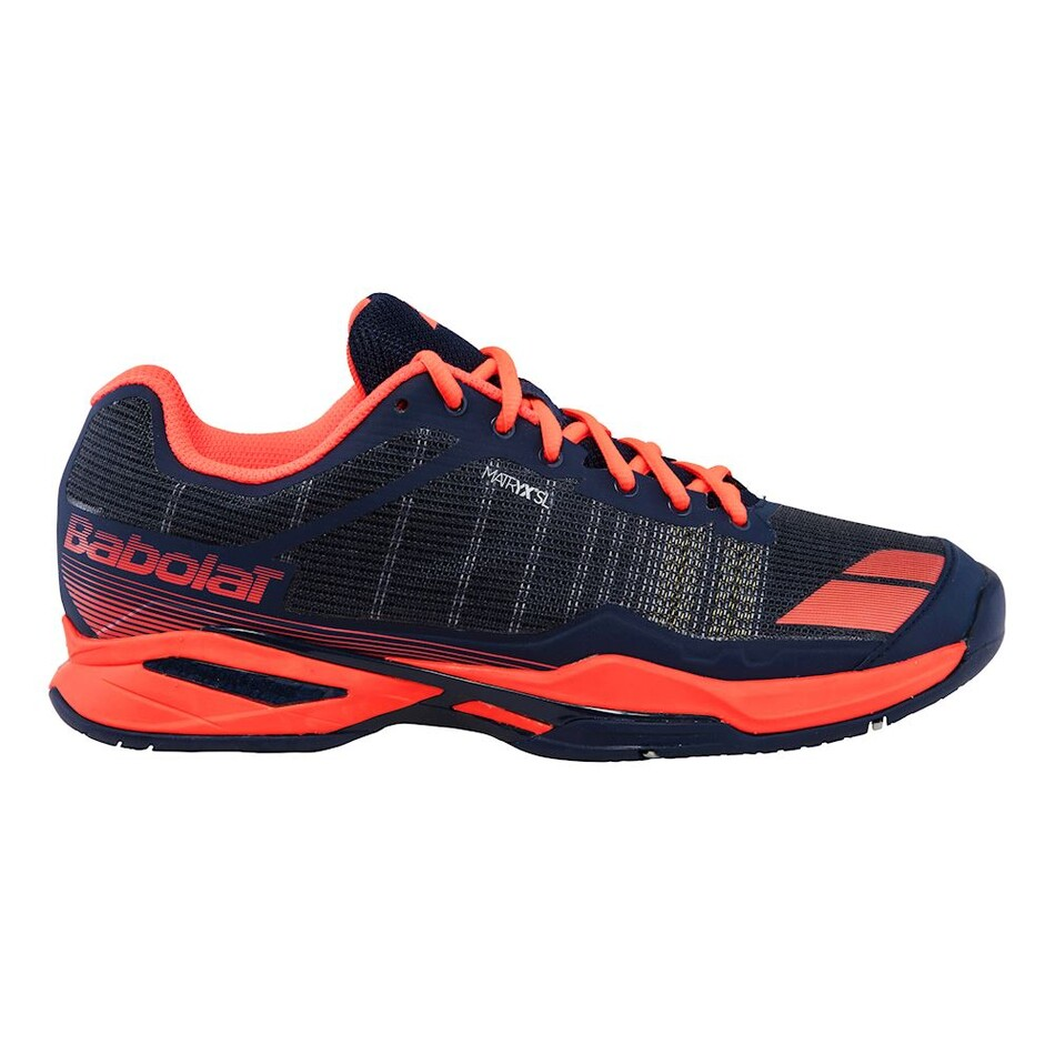 Babolat Tennis Shoes >> Babolat Jet Team All Court Tennis Shoes Blue Red