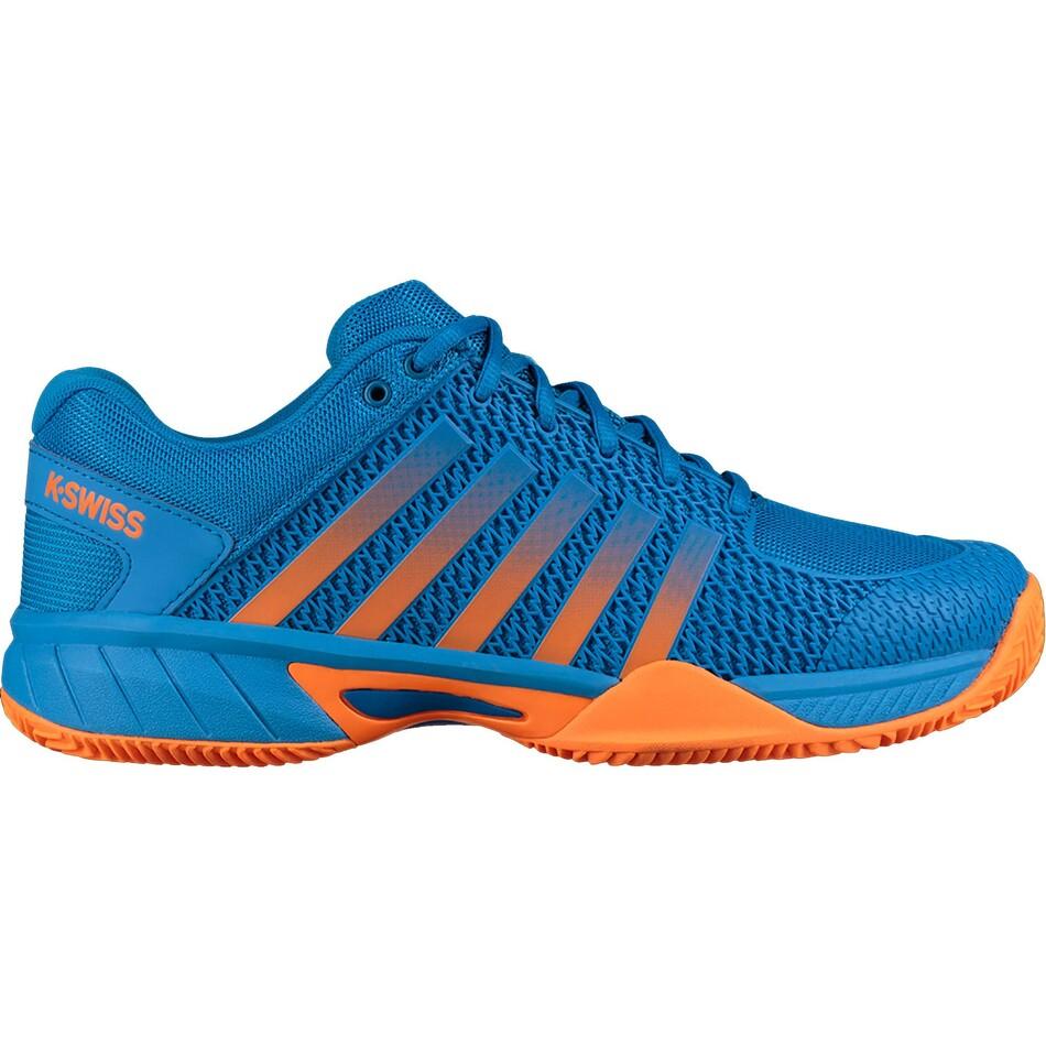 K Swiss Mens Express Light HB Tennis Shoes Brilliant Blue Neon Orange