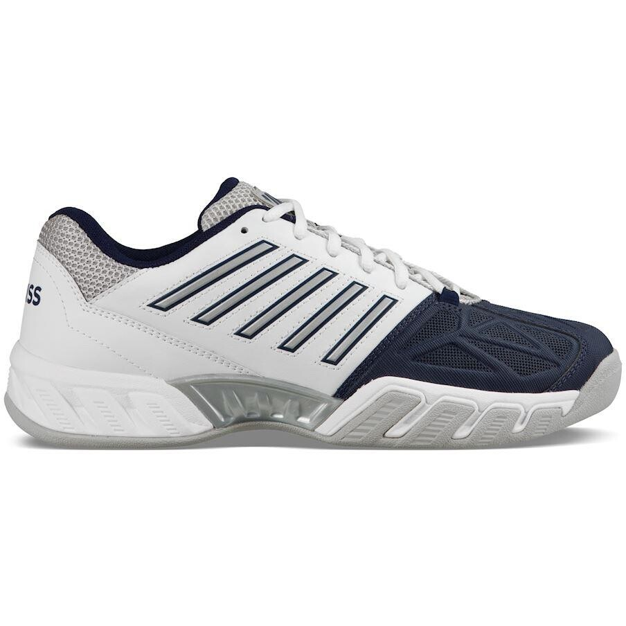 fcea11aa4cc4 K-Swiss Mens BigShot Light 3 Carpet Tennis Shoes - White Blue SMKS9984