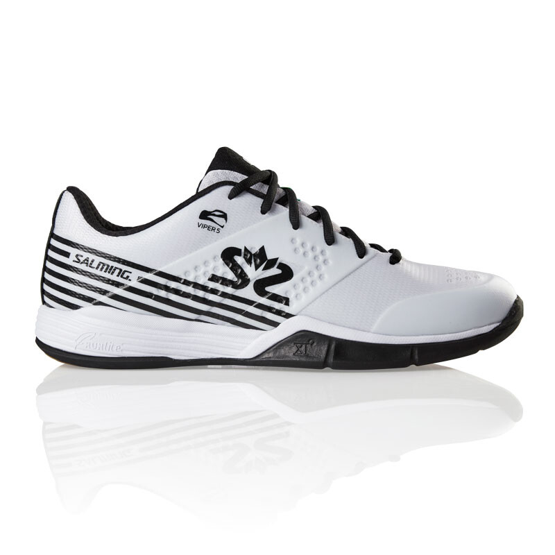 reputable site 62b30 44982 Salming Viper 5 Men's Indoor Shoes White Black 2019