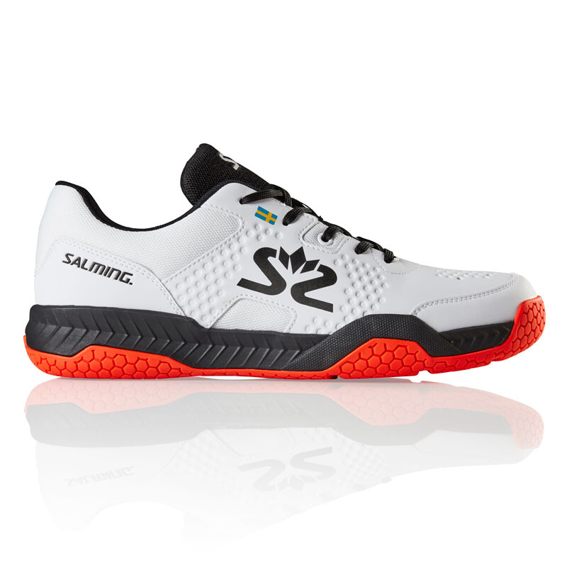 d3952731 Salming Hawk Court Mens Indoor Shoes White Black 2019 | Great ...
