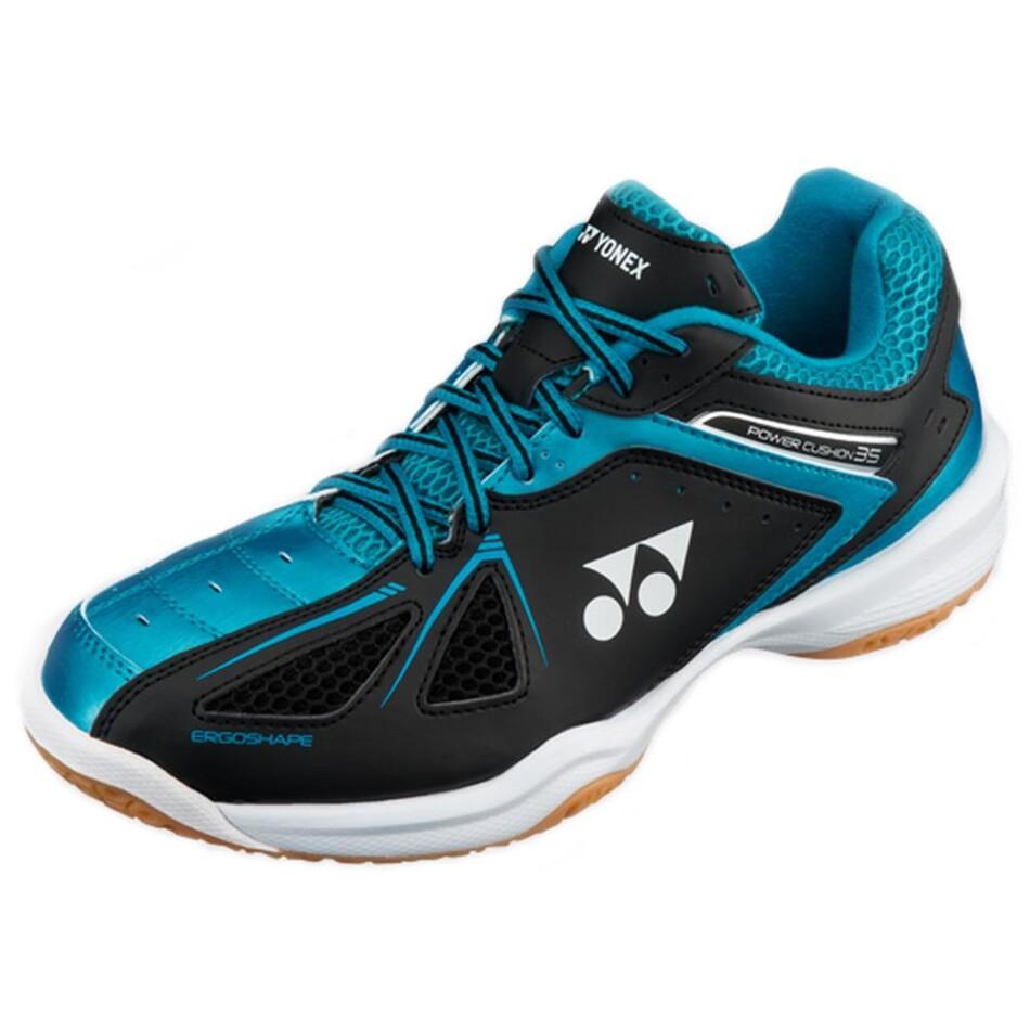 fc73a1c6ebb Yonex Power Cushion SHB 35 Mens Badminton Shoes - Black/Blue | Great ...