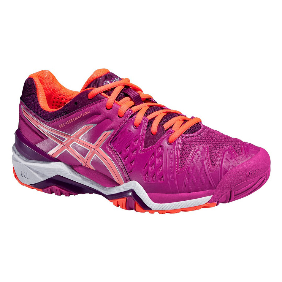 c323c43cba7a Asics Gel Resolution 6 Women s Tennis Shoes Berry Flash Coral Plum SWAC7175