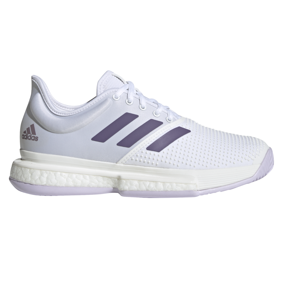 Adidas SoleCourt Boost Women's Tennis Shoes White Purple