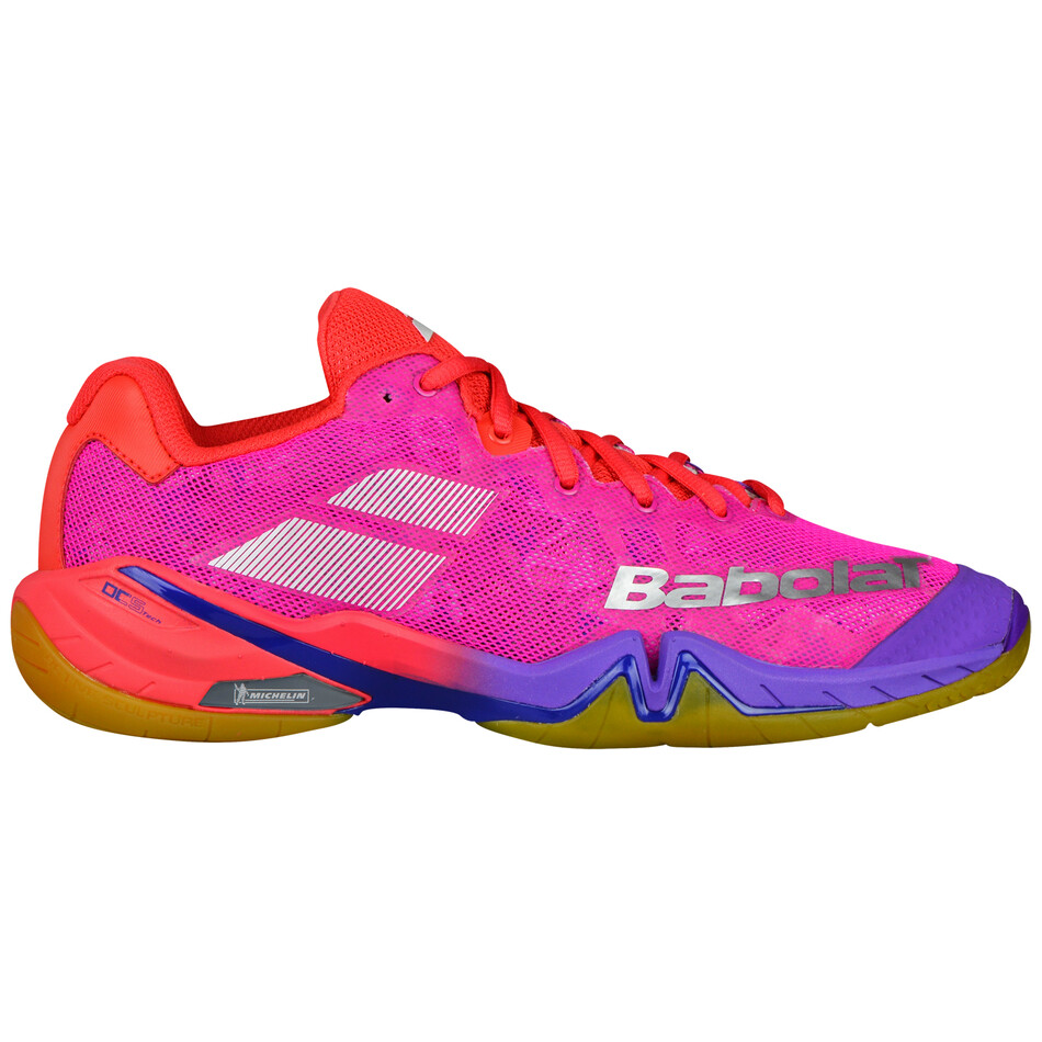 0a606986756 Babolat Shadow Tour Women s Indoor Shoes Red Pink Purple SWBA11584