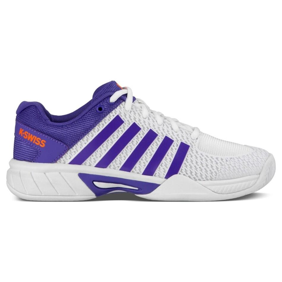 4134e94ff4cf82 K-Swiss Express Light Women s Tennis Shoes White Purple