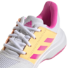 Adidas CourtJam XJ Junior Tennis Shoes White Pink